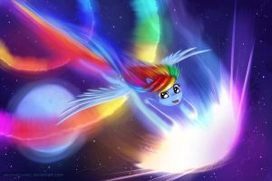 Rainbow Dash Night Sonic Rainboom by alexmakovsky