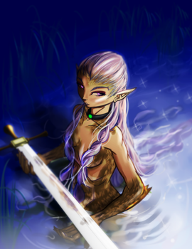 Lady of the lake by yezzzsir