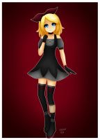 Rin in black dress by LadyGalatee