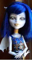 Monster High Cam Girl Gargoyle Were Wolf Custom by AdeCiroDesigns