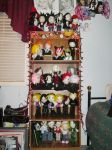 shelf of plushies by VilleVamp
