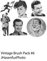 Vintage Brush Pack 8 by JonathanHasenfus