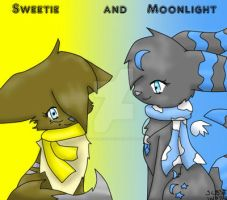 me and moonlight by SweetieTheEspeon