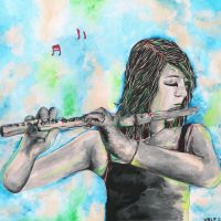 elena and the flute by Zvalosch