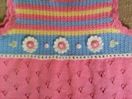 Detail of Pastel Dress for Girl by ToveAnita