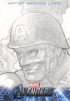 Avengers Assemble Sketchcard - WW2 Captain America by theopticnerve
