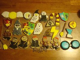 Harry Potter Cookies by SugiAi