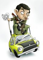 Mr. Bean drive a car by SlothyAmphawa