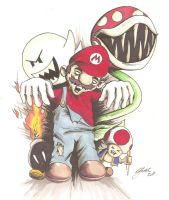 Mario horror by MikimusPrime