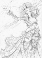 : Snow Theora : Cryokinetic Avatar : by CMBaggs