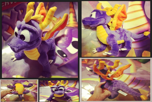 Spyro-Ultra Rare 1998 Quadruped Plush (Redo Pics) by KrazyKari