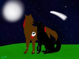 Art Trade-United Under the Full Moon by ShardianofWhiteFire