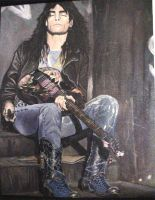 Steve Vai painting by sarcovenator