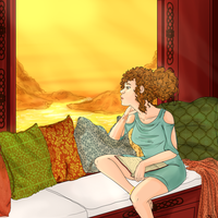The Girl At The Window by MissPomp
