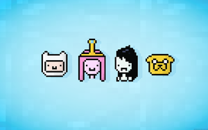 Adventure Time Wallpaper - Pixel Art by AJsCanvas