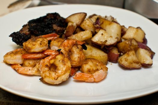 Grilled Churrasco Steak + Shrimp by VanessaVelez