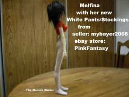 Melfina White Pants/Stockings 2 by The-Modern-Maiden