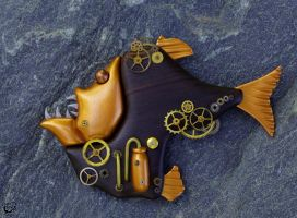 Steampunk Hatchetfish II by FauxHead
