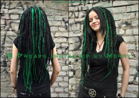 Greenblack Lady by Masquerade-Infernale