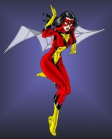 Spider-Woman Turbosuo color by SpiderGuile