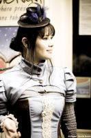 steampunk blue costume by yinco