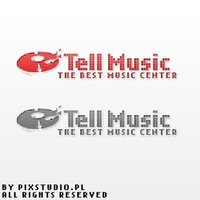 Tell Music logo by pixstudiopl