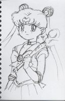 Sailor Moon with Cutie Moon Rod sketch by Fighter4luv