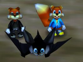 The three looks of Conker by Conkerfan91