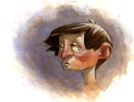 watercolor kid by bolognafingers