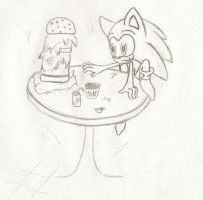 Sonic at BK -sketch3- by DemonBeatz