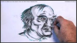 Draw An Old Man's Face In Two Point Perspective 41 by drawingcourse