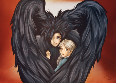 Howl's Moving Castle. Howl and Sopfie by OrnellaArts