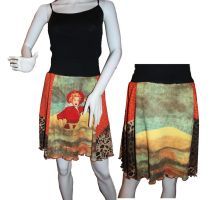 Jersey Knit Skirt M) Wild West Cowgirl by Caraut