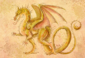 heraldic spiked dragon by Paleona