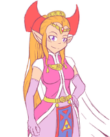 Colored Sketch - The Legend of Zelda - Four Sword by Xeon-Licrate
