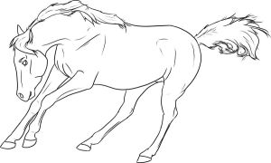 Free Lineart - Running Arabian by Baringa-of-the-Wind