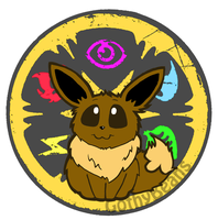 Eevee Elemental Coin by GothyBeans