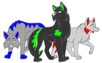 Wolfs for pspsp13 by Miss-Ravenwoud