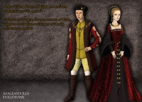 Arthur, Prince of Wales, and Catherine of Aragon by MoonMaiden37