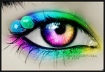 Rainbow eye by ThErEaLDoLLyFrikka