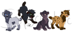Saber Cat Adopts [2/4 Left] by Spychedelic