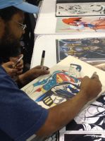 Drawing away at Heroes Con 2015 by BroHawk