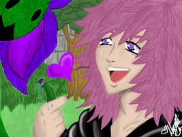 Marluxia and his Plant by XkizashiX