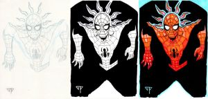 Spiderman triptyque by guillomcool