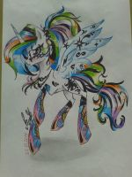 Celestia (rainbow rock) by PrincessHistory
