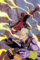 Cable and Deadpool Colors by acarabet