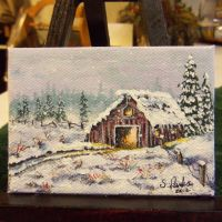 ACEO Barn #3 by annieoakley64