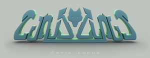Canis Lupus Ambigram by CanisLoopus