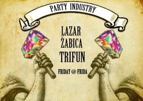 party industry poster by Laazar