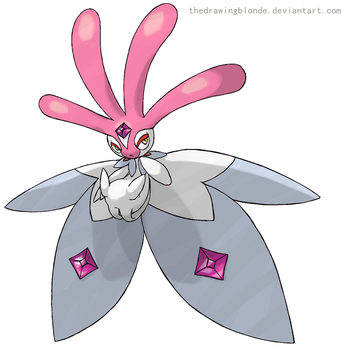 Mega Mesprit by TheDrawingBlonde